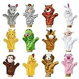 Zeagoo Original Baby Handpuppen-Set aus Plüsch | 12 lustige...