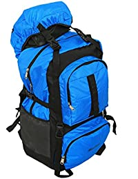 Kuber Industries™ 60 Ltrs Dark Blue Backpack/Rucksack/Travelling Bag/Hiking Bag/Adventure Bag/Camping Bag (Canvas...