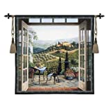 Balcony View of the Villa Wall Hanging