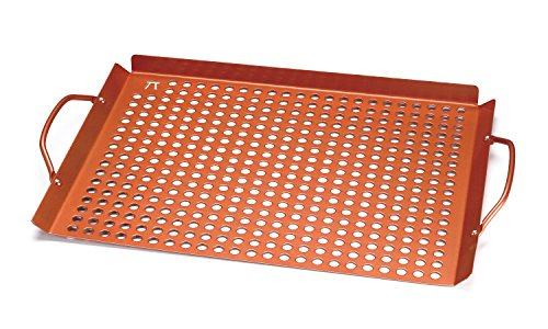 Copper Nonstick Large Grill Grid with Handles (Copper Grill Pan compare prices)