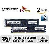 Timetec SKhynix 32GB KIT 2x16GB 1866MHz DDR3 PC3-14900 ECC Registered 1.5V CL13 240-Pin Memory For Mac Pro Systems...