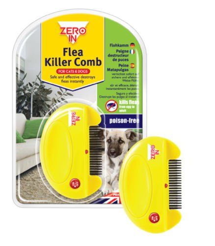 zero-in-electric-flea-killer-comb-for-cats-dogs-poison-free-destroy-fleas-new