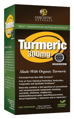 Genceutic Naturals  Organic Turmeric 300 Mg
