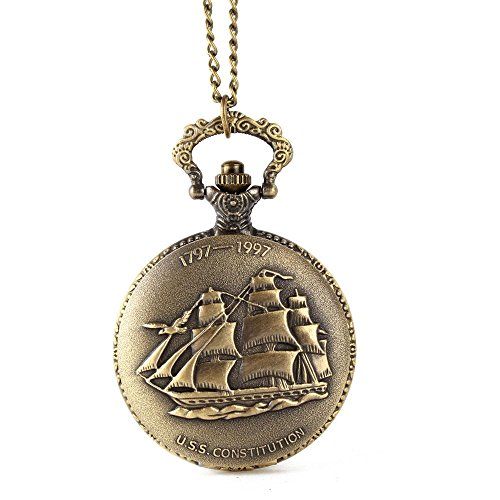 Vintage Design Ship Pocket Watch