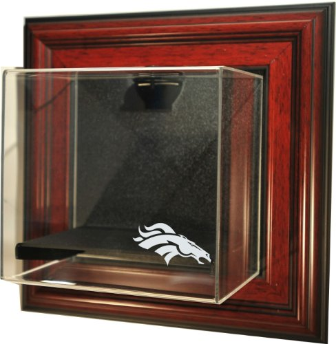 "Nfl Denver Broncos Mini-Helmet ""Case-Up"" Display Case, Mahogany"