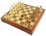 木製 チェスセット ボードゲーム 脳トレ (Mサイズ) [並行輸入品]