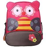 Scheppend 3D Cartoon BackPack Children Baby Animals Travel School Bags,Owl