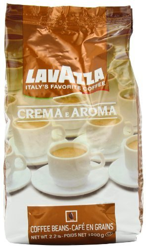 Lavazza Crema E Aroma Coffee Beans 2.2-Pound Bag (Pack Of 6)