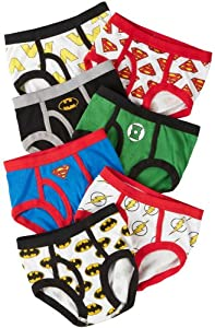 Handcraft Boys 2-7 7-Pack Justice League Logo Brief from Justice League