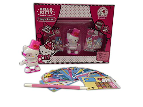 Hello Kitty Magic Robot Trick Set with Wand and Collectible Wind Up Figurine