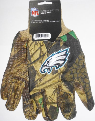 Philadelphia Eagles Camouflage Nfl All Purpose Utility Grip Gloves front-1051603