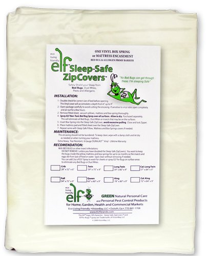 SLEEP SAFE BED BUG, DUST MITE, & ALLERGEN PROOF FULL 9 Boxspring ZipCover