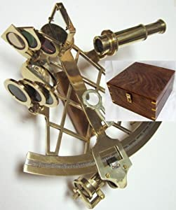 NEW Working Ross London Brass 10in Micrometer Sextant W Box By Canyon Gold by ROSS LONDON