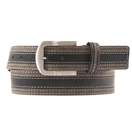 Cintura Lorenzo Nera, in pelle, casual, dimensioni in cm:115 L x 4 h