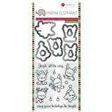 Hampton Art Mama Elephant Stamp & Die Set CHRISTMAS REINDEER