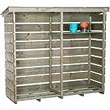 Lager/Regal/Stapelhilfe für Brennholz/Kaminholz/Holzstapel - Groß & robust
