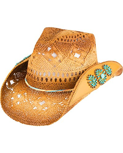 532c806f1cf42 Peter Grimm Ltd Women s Chogan Beaded Cowgirl Hat Natural One Size ...