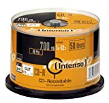 Intenso 1001125 CD-R 52x 50 Pack Cakebox