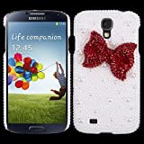 DEENOR® bling 3D clear case silver flower cute diamond rhinestone crystal hard back Case cover for samsung galaxy s3 mini i8190,Includes Screen Protector & Stylus Pen (S4, red cow)