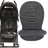 DELUXE STROLLER PUSHCHACHAIR BUGGY LINER - BLACK TO FIT MACLAREN, OBABY, ZETA VOOOM, TIPPITOES, HAUCK, CHICCO, GRACO MAMAS AND PAPAS