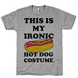 This is My Ironic Hot Dog Costume Crewneck T-Shirt by Human