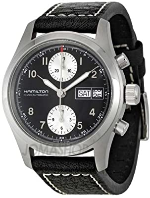 Hamilton Men's H71466733 Khaki Field Black Dial Watch from HANDS ON'SEMBLE