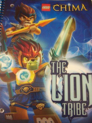 "LEGO Chima Wide Ruled Poly Cover Spiral Notebook ~ The Lion Tribe! (8"" X 10.5""; 70 Sheets, 140 Pages)"