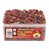 SweetZone 100% Halal Jelly Sweets - Fizzy Cherry Cola Bottles Tub of 600pcs
