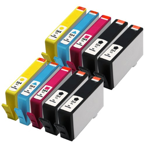E-Z Ink (Tm) Remanufactured Ink Cartridge Replacement For New Generation Hp 564Xl Cn684Wn Cn685Wn Cn686Wn Cn687Wn (4 Black, 2 Cyan, 2 Magenta, 2 Yellow) 10 Pack Compatible With Photosmart 5510, Photosmart 5514, Photosmart 5522, Photosmart 6510, Photosmart