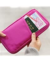 Tips 4 Wise Hot Pink Travel Wallet with Closure Zip Document Organiser Passport Ticket Holder