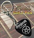 Gorgoroth Pentagram Premium Guitar Pick Keyring
