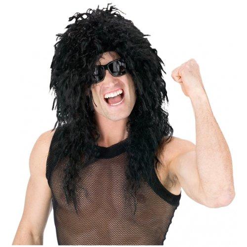 Head  (Black Headbanger Wig)