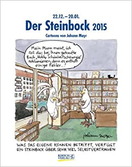 der steinbock 2015 sternzeichen cartoonkalender. Black Bedroom Furniture Sets. Home Design Ideas
