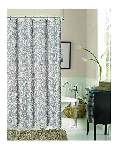Dainty Home Stunning La Vista Shower Curtain, Silver