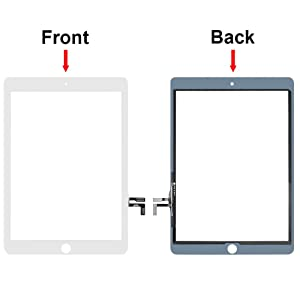 MMOBIEL Digitizer for IPAD 5 2017 (White) 9.7 Inch Touch Screen Display Glass assembly - Incl. Camera Holder + Pre Installed adhesive Stickers Tool kit