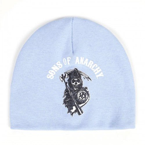 Sons of Anarchy Powder Blue Rocker Reaper Logo Baby Beanie