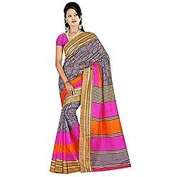 SareeShop Women's Saree with Blouse Piece Saree (Bhagalpuri1060_MultiColored _Free Size)