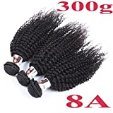 BHD 8A 3 Bundles Unprocessed Human Remy Virgin Hair Extensions Hair Weft Kinky Curly Natural Black 8-26 (10 12 14)
