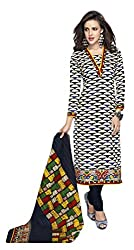 Sree Impex Women's Cotton Unstitched Dress Material (SI-CO-34_Blue_Free Size)