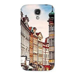 Impressive Prague Street Multicolor Print Back Case Cover for Samsung Galaxy S4
