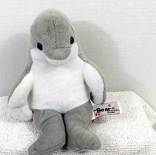 "8"" Dolphin Plush Stuffed Animal By the Bear Factory - 1"