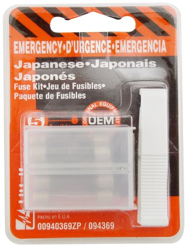 Littelfuse 00940369Zp Japanese Emergency Glass Fuse Kit With 1 Puller, (Pack Of 5 Fuses)