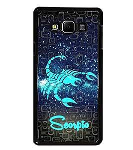 PrintDhaba Zodiac Scorpio D-2803 Back Case Cover for SAMSUNG GALAXY A7 (Multi-Coloured)