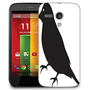 Snoogg Bird Vector Element Designer Protective Phone Back Case Cover For Motorola G / Moto G