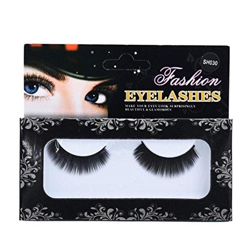 Malloom 1 Pairs Natural Long Thick Christmas False Eye Lashes Party Makeup (Super Long Eyelashes compare prices)