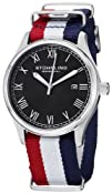 """Stuhrling Original Unisex 522.04 Leisure Collection """"Gen X Liberty"""" Red, White, and Blue Canvas…"""