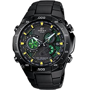 Casio - Quartz Edifice Multiband 6 Solar Atomic Black Dial Men's Watch - EQW-M1100DC-1A2