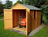 8FT x 6FT STOWE TONGUE & GROOVE GARDEN APEX SHED / WORKSHOP + DOUBLE DOORS