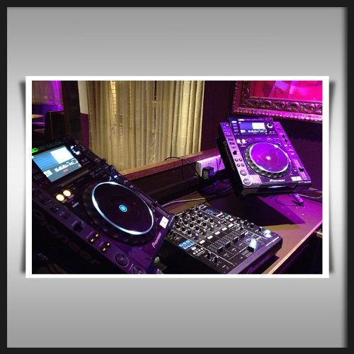 Pioneer Dj Cdj 2000 & Djm-900 Nexus Mixer Huge Canvas Art Print 24X18 Inch Modern Office Wall Poster 60X45Cms