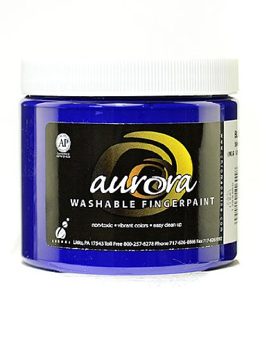 Chroma Inc. Aurora Washable Finger Paint blue [PACK OF 4 ]